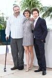 Hernan Mendoza, Tessa Ia and director Michel Fran Royalty Free Stock Photos