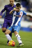 Hernan Perez of RCD Espanyol Royalty Free Stock Photo