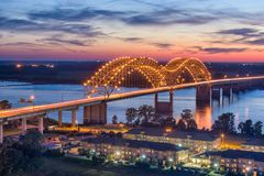 Hernando de Soto Bridge. Memphis, Tennessee, USA at Hernando de Soto Bridge Stock Photo