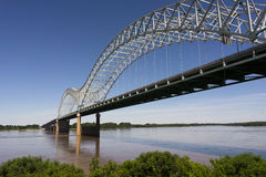 Hernando de Soto Bridge Spanning Mississippi River Arkansas Tennessee Royalty Free Stock Photo