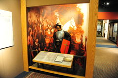 Hernando De Soto Exhibit at the Tunica Museum in North Mississippi. Stock Images