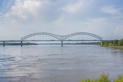 The Hernando-DeSoto Bridge. Or the M bridge in Memphis, Tennessee Royalty Free Stock Photography