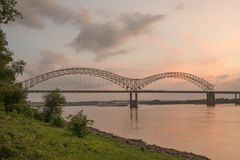 Hernando Desoto Bridge. In Memphis Tennessee Stock Photo