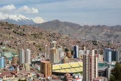 Hernando Siles stadium view from Mirador Killi Killi. La Paz. Bolivia Stock Photos