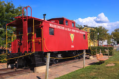 Herndon Virginia Red Caboose Royalty Free Stock Photos