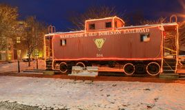 Free Herndon Virginia Red Caboose Railroad Car Royalty Free Stock Photography - 107130077