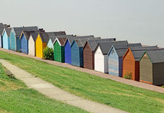 Herne bay beach huts Royalty Free Stock Image
