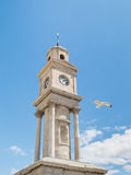 Herne Bay clock tower and seagull Stock Photos