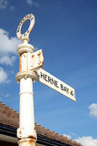 Herne bay direction sign Royalty Free Stock Photography