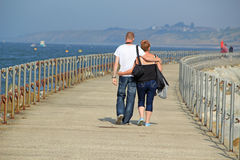 Herne Bay Harbour Walk Way Royalty Free Stock Photo