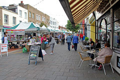 Herne bay market and stalls Royalty Free Stock Photos