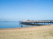 Herne Bay Pier on a bright winter day Stock Photo
