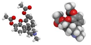 Heroïne (diacetylmorphine) Royalty-vrije Stock Afbeeldingen
