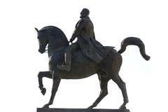 Hero. Horseman Statue Of King Carol Isolated On White Background Stock Photo