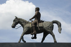 Hero. Gen. Aguinaldo on his horse Stock Image
