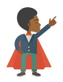 Hero african man pointing up high to the sky Stock Image