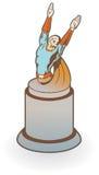Hero Award. Hero statue or award with text area. Easily edited Royalty Free Stock Photos