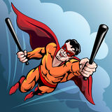 Hero with baseball bats Royalty Free Stock Images