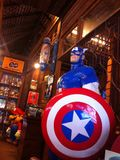 Hero. Captainamerica kartoon statue america Stock Image