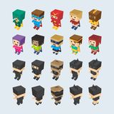 Hero character option game assets element Royalty Free Stock Photos