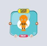 Hero character option game assets element Royalty Free Stock Image