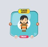 Hero character option game assets element Stock Photos