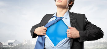 He is hero of the corporation Royalty Free Stock Images