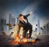 Hero determinated businessman Royalty Free Stock Image