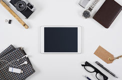 Hero header tablet pc mockup Stock Photography