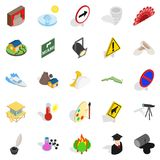 Hero icons set, isometric style. Hero icons set. Isometric set of 25 hero vector icons for web isolated on white background Royalty Free Stock Photos