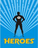 Hero illustration Royalty Free Stock Photos