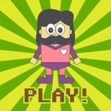 Hero kid cartoon Royalty Free Stock Images