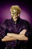Hero in mask Royalty Free Stock Photos