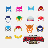 Hero mask. face character -  Stock Image