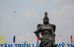 A hero monument in Hai Phong Stock Image