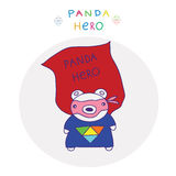 Hero panda Royalty Free Stock Images