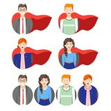 Hero people royalty free illustration