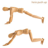 Hero push up pose Stock Image
