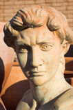 Hero's Bust. A terracotta and stucco casting of a hero's head royalty free stock photo
