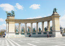 Hero's square. Budapest, Hungary Royalty Free Stock Image
