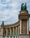The hero's square, Budapest, details Royalty Free Stock Photography