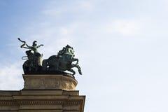 Hero's Square in Budapest Stock Photo
