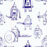 Hero seamless pattern. Stock Images