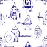 Hero seamless pattern. Stock Photo