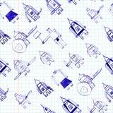 Hero seamless pattern. Stock Photos