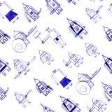 Hero seamless pattern. Royalty Free Stock Photo