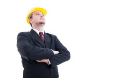 Hero shot of architect or visionary contractor Royalty Free Stock Photo