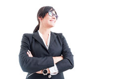Hero shot of young business woman Royalty Free Stock Photos