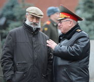 Hero of the Soviet Union and Hero of the Russian Federation Artur Chilingarov and The Minister of internal Affairs of Russia  Anat Stock Images