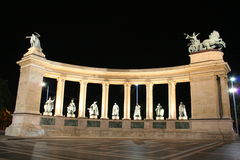Hero Square , left part. Hero Square, Hungary, Budapest , Duna Royalty Free Stock Photo